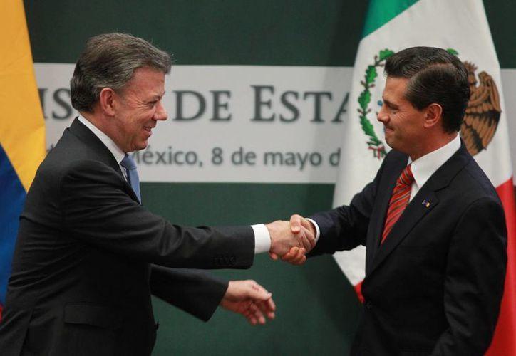 Los presidentes de México y Colombia afirmaron que la relación bilateral está 'en su mejor momento'. (Notimex)