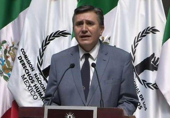 Respecto al caso Tlatlaya, Luis Raúl González Pérez dijo que exigirá el cumplimiento de la recomendación que hizo la CNDH. (Twitter.com/@CNDH)