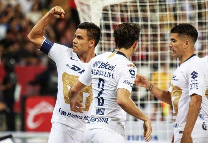 Pumas celebra su posición en la cima del torneo. (excelsior.com)