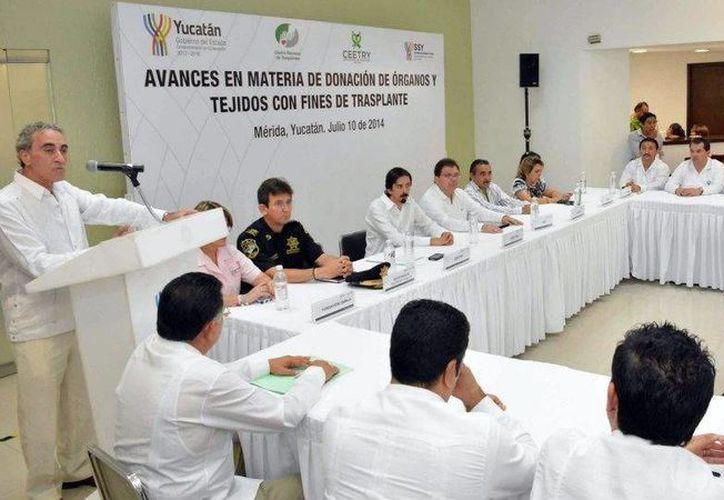 El director Jorge Martínez Ulloa Torres presentó un balance del Centro Estatal de Trasplantes de Yucatán. (Milenio Novedades)