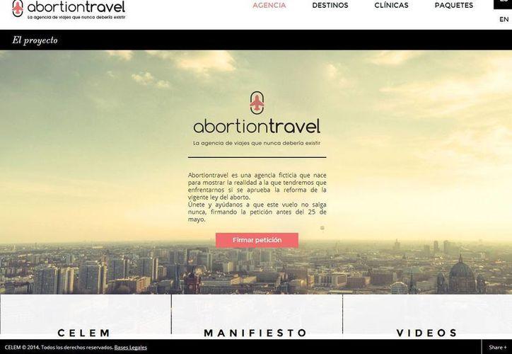 Los organizadores aseguran que los paquetes de viajes que ofrecen son meramente informativos y no están a la venta. (abortiontravel.org)