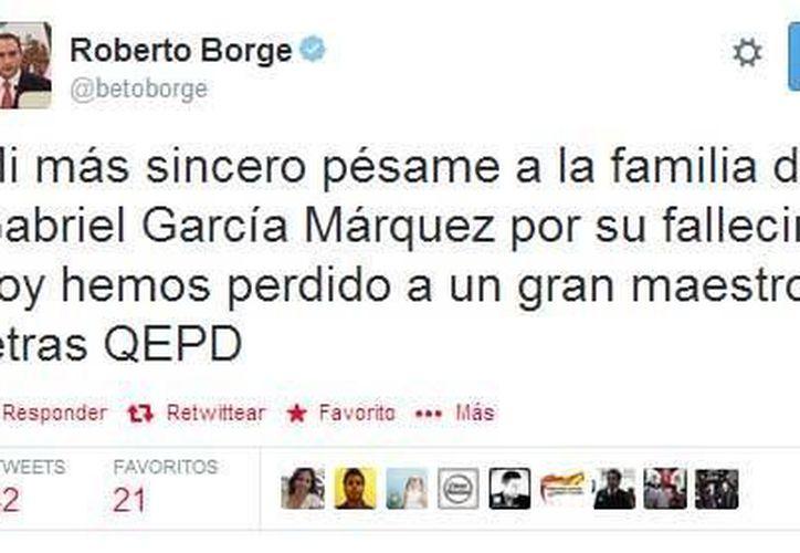 El gobernador del estado hizo públicas sus condolencias a través de Twitter.  (Redacción/SIPSE)