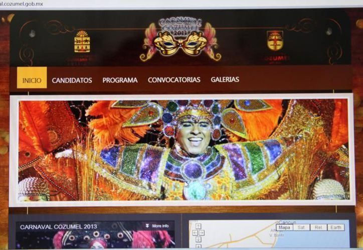 La imagen del portal del carnaval Cozumel 2013. (Cortesía/SIPSE)