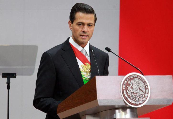 El presidente de México, Enrique Peña, Nieto durante el mensaje que emitió a la nación con motivo de su III Informe de Gobierno, el miércoles 2 de septiembre de 2015. (José Pasos /Notimex)