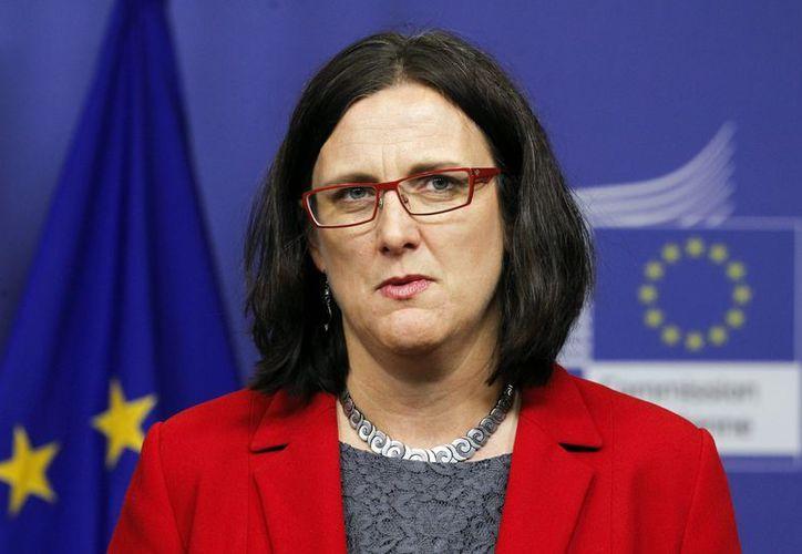 La comisaria europea de Interior, Cecilia Malmström, inauguró hoy en La Haya el centro europeo contra el cibercrimen, bautizado como EC3. (EFE)