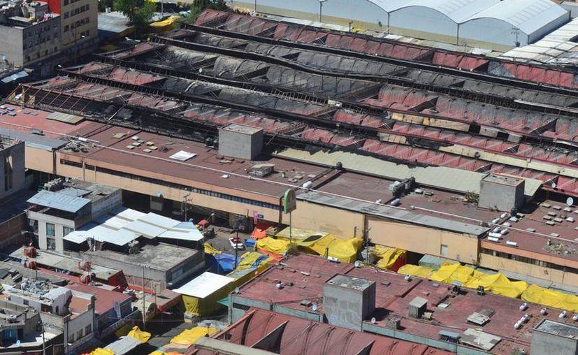 Aspecto desde el aire del popular mercado de la Ciudad de México. (Archivo/Notimex)