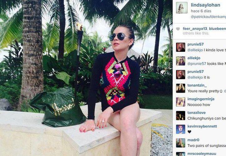 Pese a estar enferma, Lindsay Lohan compartió fotos de sus vacaciones en Bora Bora. (telecinco.es)