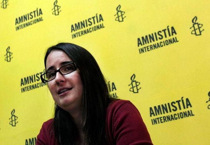 Ana Piquer (imagen), representante de Amnistía Internacional (AI), en Chile, habló de la campaña 'Mi cuerpo, mis derechos', que busca implantar el aborto como un derecho humano. (telemundo33.com)