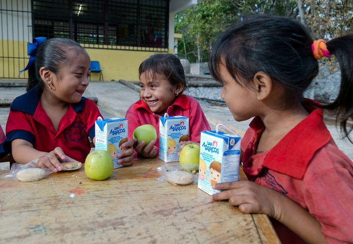 La fruta fresca se integra a los desayunos escolares del DIF Yucatán. (SIPSE)