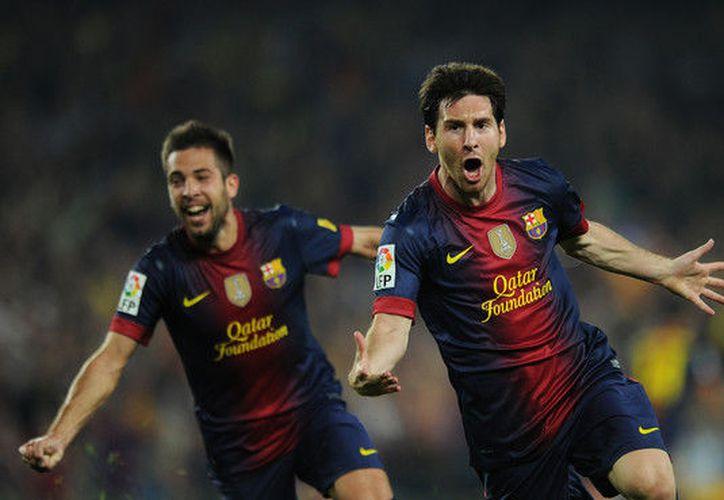 Lionel Messi y Jordi Alba, mancuerna exitosa del club Barcelona, equipo que pasó a los cuartos de final de la Copa del Rey, del fútbol español. (Contexto/Internet)