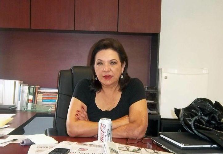 Sofía Castro: en los dos primeros años el gobierno del estado le ha asignado más dinero a gastos diversos que a la obra pública. (SIPSE)