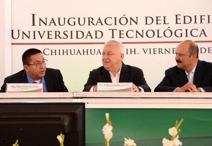 El titular de la SEP inauguró un edificio de la Universidad Tecnológica de Chihuahua. (Notimex)