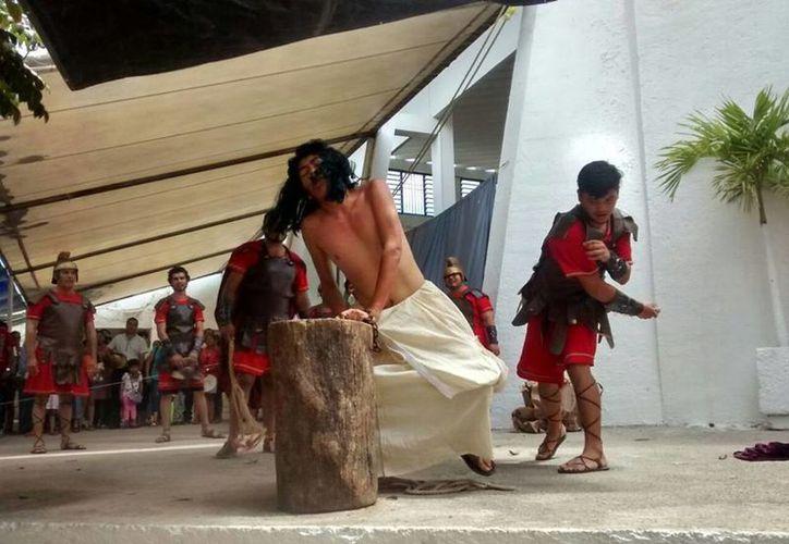 Jesús es flagelado. (Alejandra Galicia/SIPSE)