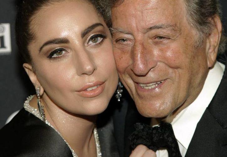 """""""La idea de este álbum no es sólo reunirnos Tony y yo a colaborar, sino llevar el jazz a un público completamente nuevo"""", dijo Lady Gaga. (AP)"""