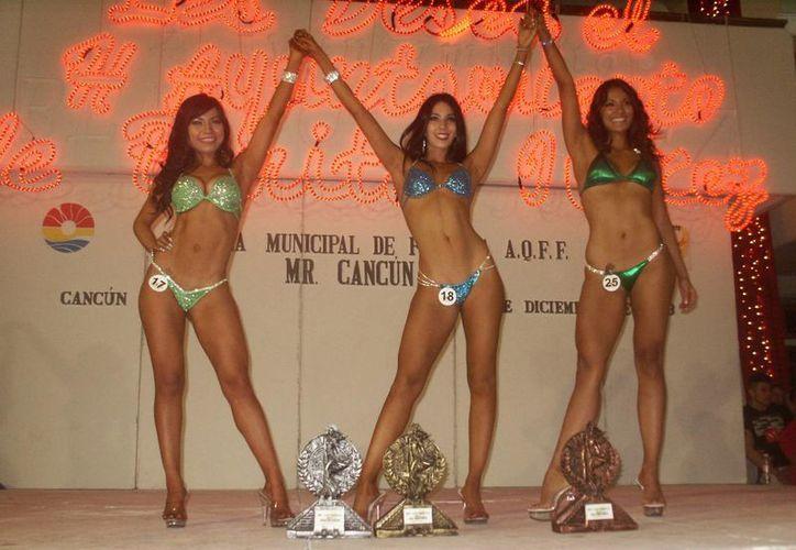 En la categoría Bikini la ganadora fue Priscila Flores. (Ángel Mazariego/SIPSE)