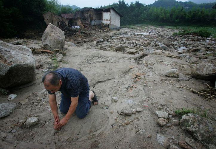 Imagen de otra avalancha ocurrida en China en 2011. (EFE)