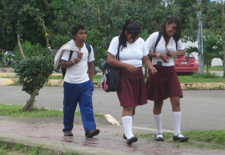 Padres de familia consideran urgente que las autoridades de Seguridad Pública y la Seyc, retomen los operativos. (Javier Ortiz/SIPSE)