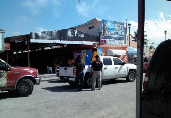 El operativo llegó hasta la comisaría de Chelem, a donde corresponde la imagen. (Manuel Pool/SIPSE)
