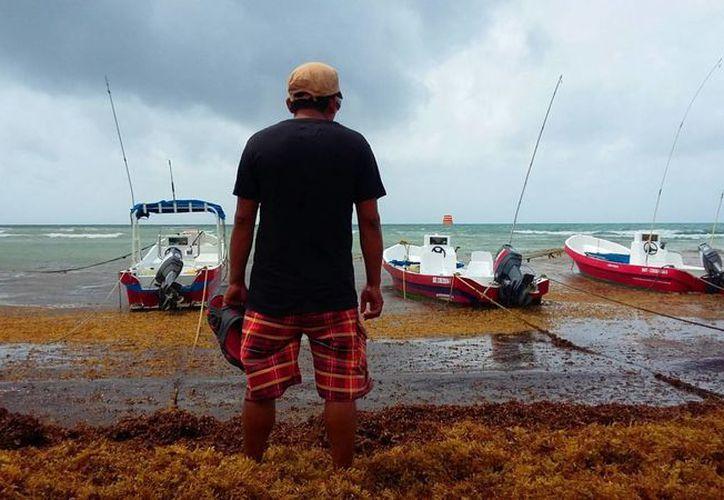 Los náuticos tuvieron 100% de cancelaciones de servicios debido al mal tiempo y al cierre del puerto en Playa del Carmen. (Daniel Pacheco/SIPSE)
