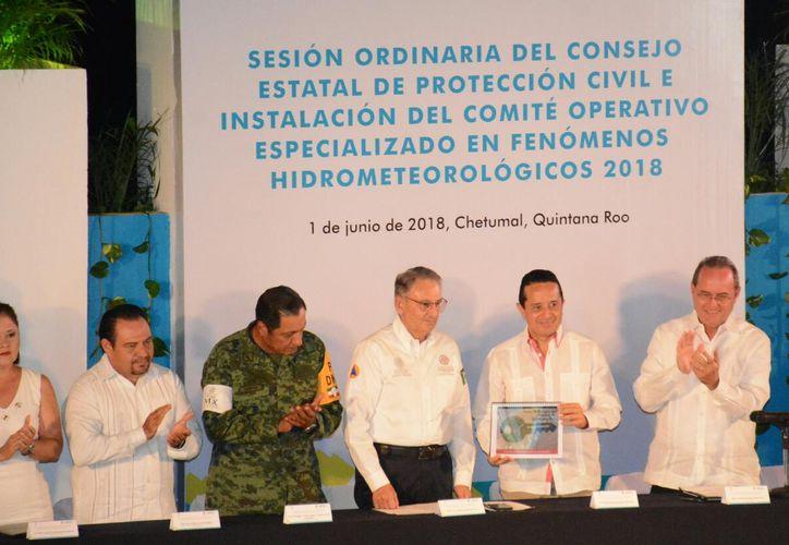 Por el inicio de la temporada de huracanes, este viernes, se llevó a cabo la Sesión Ordinaria del Consejo Estatal de Protección Civil. (Redacción/SIPSE)