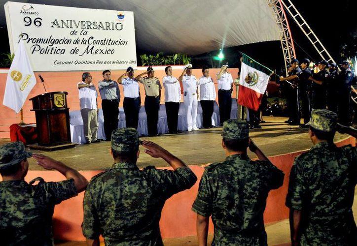 Celebran Aniversario de la Promulgación de la Constitución Política de los Estados Unidos Mexicanos. (Redacción/SIPSE)