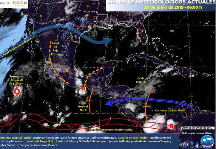 Las lluvias podrían llegar a afectar el estado hasta la noche. (Servicio Meteorológico Nacional)