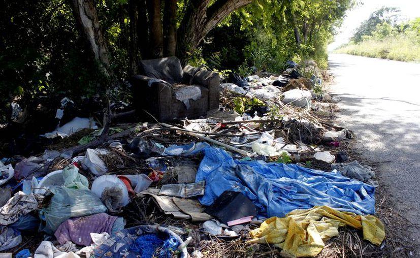 La administración municipal no destina partidas para la recolección de basura en los centros poblacionales rurales. (Enrique Mena/SIPSE)