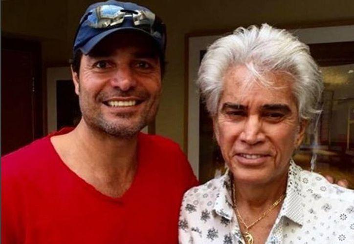 Imagen del encuentro entre Chayanne y José Luis Rodríguez 'El Puma', quien padece  fibrosis pulmonar incurable. (Instagram chayanne)