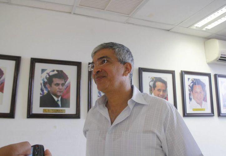 Gerardo Valadez Victorio durante una entrevista. (Loana Segovia/SIPSE)