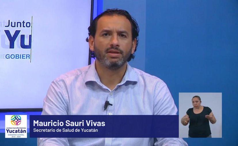 El titular de la SSY, Mauricio Sauri Vivas, informó sobre el número de casos de Covid-19 en Yucatán. (Foto: Novedades Yucatán)