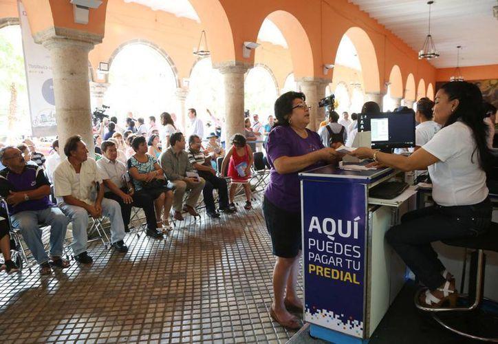El Ayuntamiento de Mérida recuerda a la ciudadanía que en el pago del predial, en febrero y marzo, todavía hay descuentos. (Foto cortesía del Ayuntamiento de Mérida)