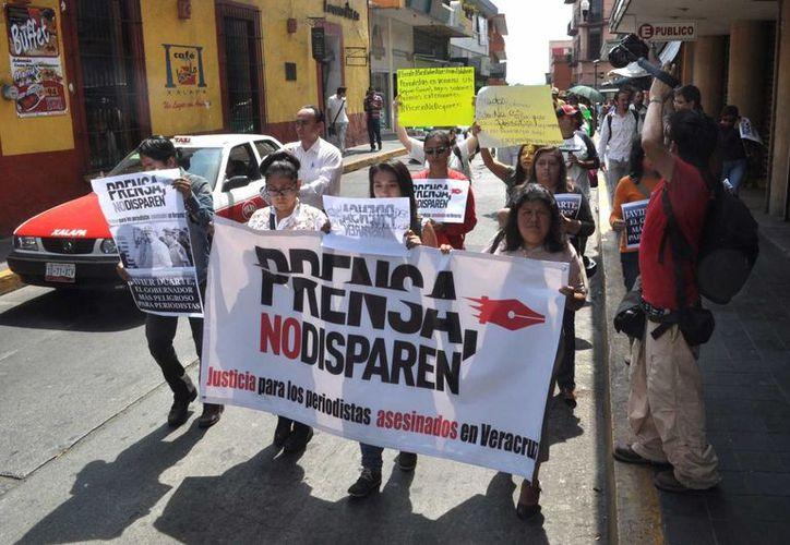 En México, el homicidio del periodista Gregorio Jiménez en Veracruz indignó al gremio en todo el país. (Archivo/Notimex)