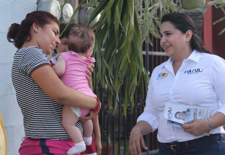 """La candidata Mayuli Martínez recalcó que """"en los puestos mejor remunerados siempre aparecemos como ínfima minoría"""". (Foto: Redacción/SIPSE)"""