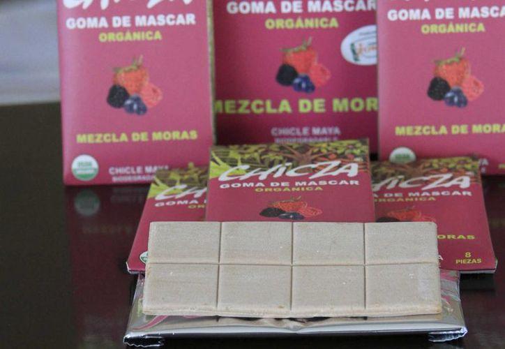 La marca de chicle orgánico Chicza lanzará una nueva presentación para 'conquistar' al mercado europeo. (Paloma Wong/SIPSE)