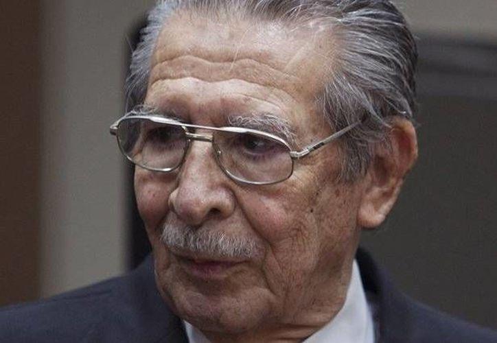 Ex dictador guatemalteco Efraín Ríos Montt. (Agencias)