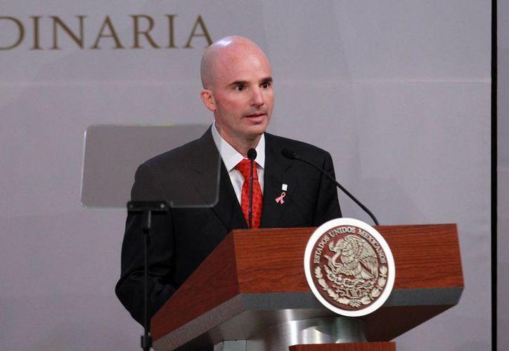 """El director de Pemex, José Antonio González Anaya, dijo que el ajuste presupuestal """"en sí no es el recorte de personal, en sí es aumentar la competitividad de la empresa"""". (Archivo/Notimex)"""