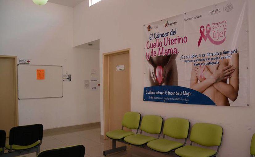 El diagnóstico y detección de cáncer cervicouterino y cáncer de mama, son los exámenes que se realizan en la Uneme Dedicam. (Victoria González/SIPSE)