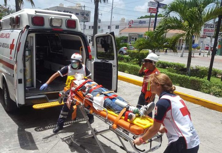 El herido fue trasladado de urgencia al IMSS de la Cobá donde permanece internado. (Foto: Redacción/SIPSE)