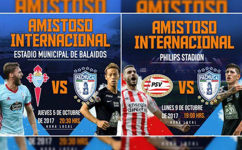 Pachuca confirmó mini gira por Europa; jugará ante PSV y Celta