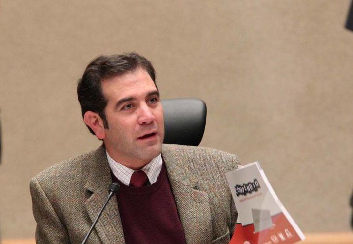Lorenzo Córdoba, titular del INE, indicó que el órgano se mantiene en estrecho contacto con las autoridades electorales del estado de Guerrero. (Notimex)