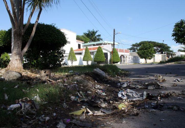 """Protección civil ubicó varios puntos de """"gravedad"""", aunque no fue necesaria la intervención de los bomberos.    (Francisco Sansores/SIPSE)"""