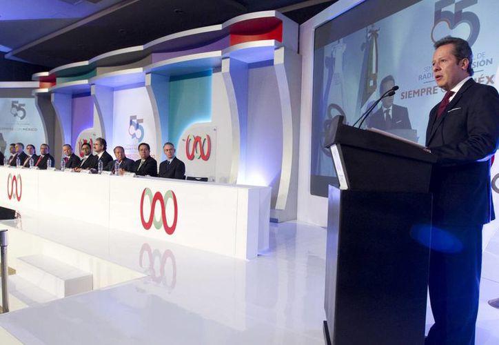 Aspecto del segundo día de los trabajos de la 54 Semana Nacional de Radio y Televisión, en la Ciudad de México. (Notimex)
