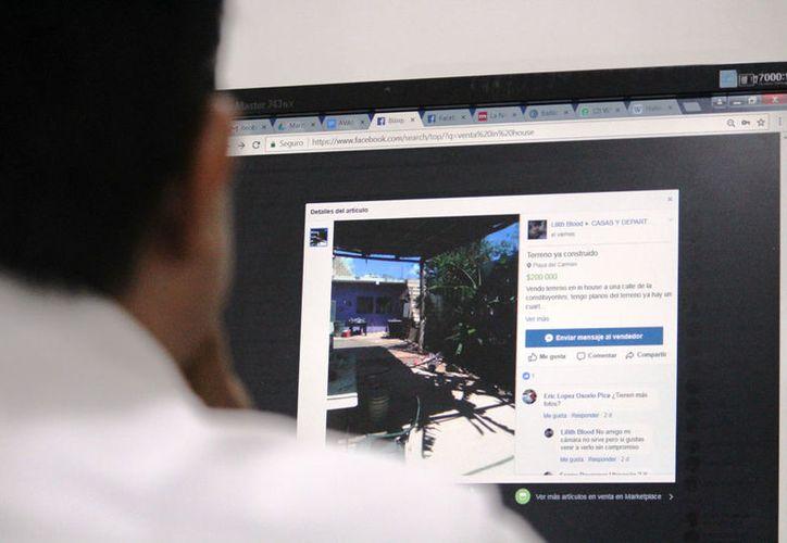 A través de internet dan detalles de los terrenos en venta. (Octavio Martínez/SIPSE)