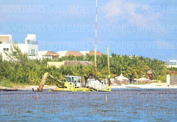 La zona costera registra una afectación a causa del dragado del fondo marino. (Daniel Pacheco/SIPSE)