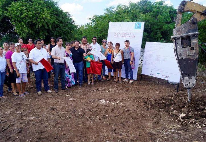 Mediante el programa 3x1 para migrantes inició la construcción de las tres obras. (Milenio Novedades)