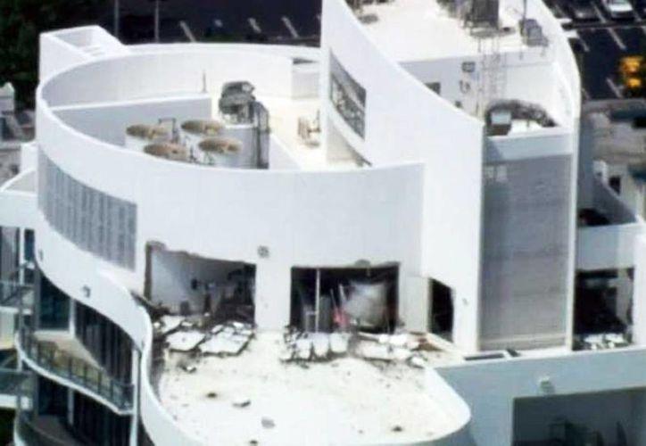El estallido ocurrió en el edificio de residencias Chateau Beach en la 174 calle y la Avenida Collins (Foto tomada de Excelsior)