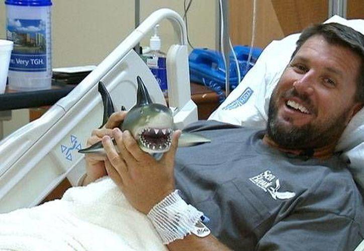 Norrie estaba disfrutando de unas vacaciones en las islas Bahamas cuando fue atacado por el tiburón. (FOX13 Tampa Bay)