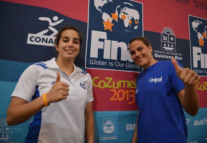 Martina Grimaldi y Melisa Villaseñor competirán en el evento. (Gustavo Villegas/SIPSE)