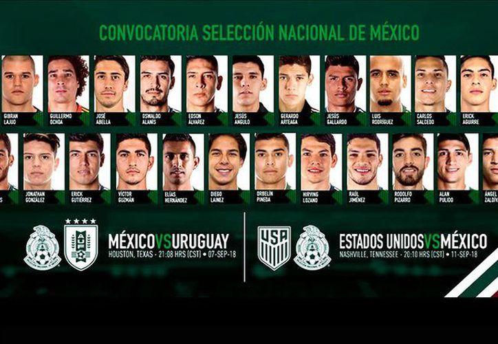 En contraste, los veteranos de este llamado son Guillermo Ochoa y Elías Hernández con 33 y 30 años, respectivamente. (Twitter)