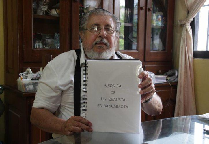 Armando Jesús Góngora Campos es pionero de Cancún. (Rubí Velázquez/SIPSE)